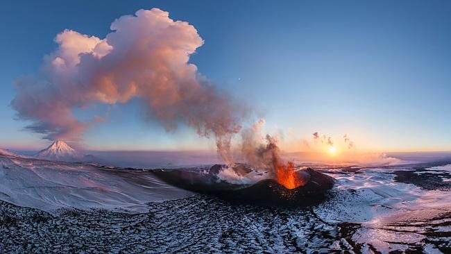 Volcano Plosky Tolbachik, Kamchatka, Russia. Picture: AirPano/Picture Media