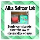 In this lab students will use alka seltzer to understand the law of conservation of mass. I use this lab before I teach the law so students can discover it on their own. Materials needed: triple beam balances or electronic scale, graduated cylinder, ziploc bags, plastic cup, water, and alka seltzer tablets.