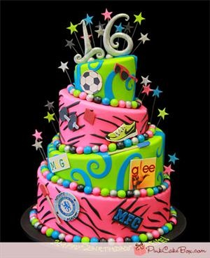 Thinking my sis needs this for her 16th birthday cake! :)  (Maeve's Sweet 16 Topsy Turvy Cake)