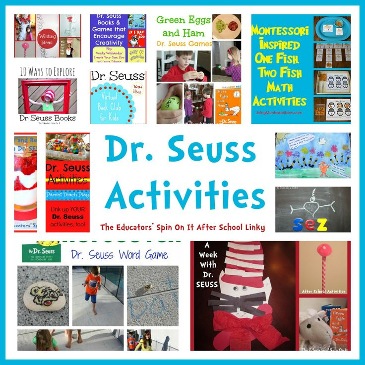 The Educators' Spin On It: Dr. Seuss Activities for Read Across America #DrSeuss #readacrossamerica #kids #eduspin #books