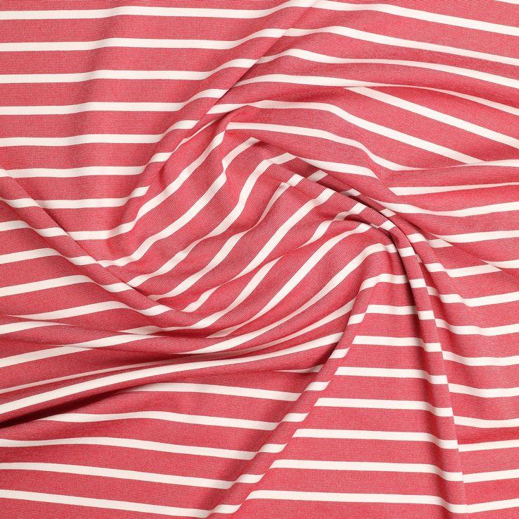 rood ecru bretonse streep punta di roma met stretch