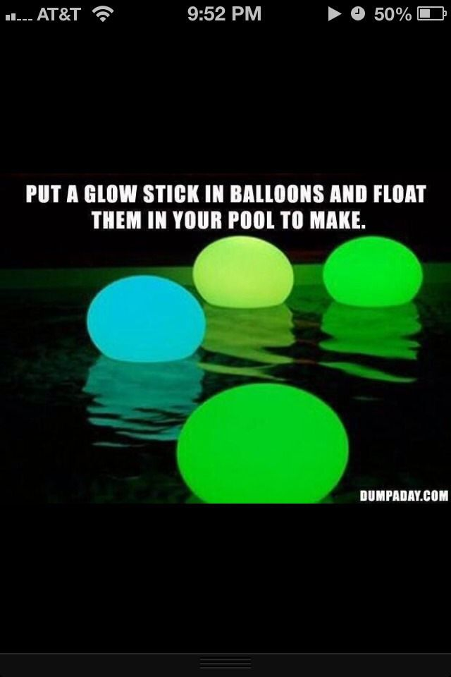 For Night Time Pool Parties
