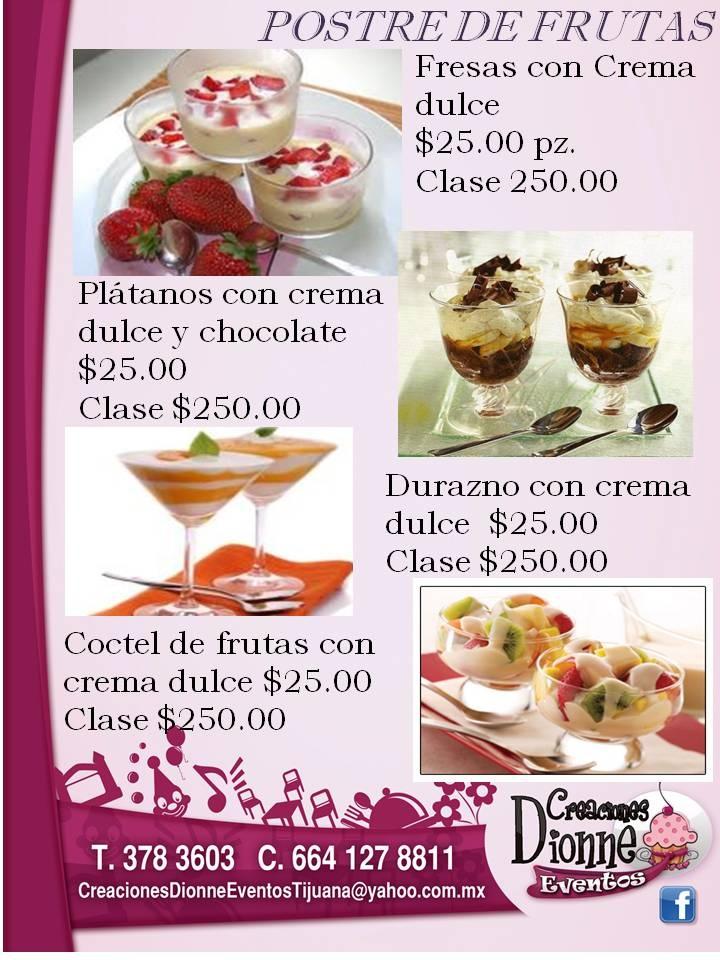 POSTRES DE FRUTAS: Desserts, Fruit