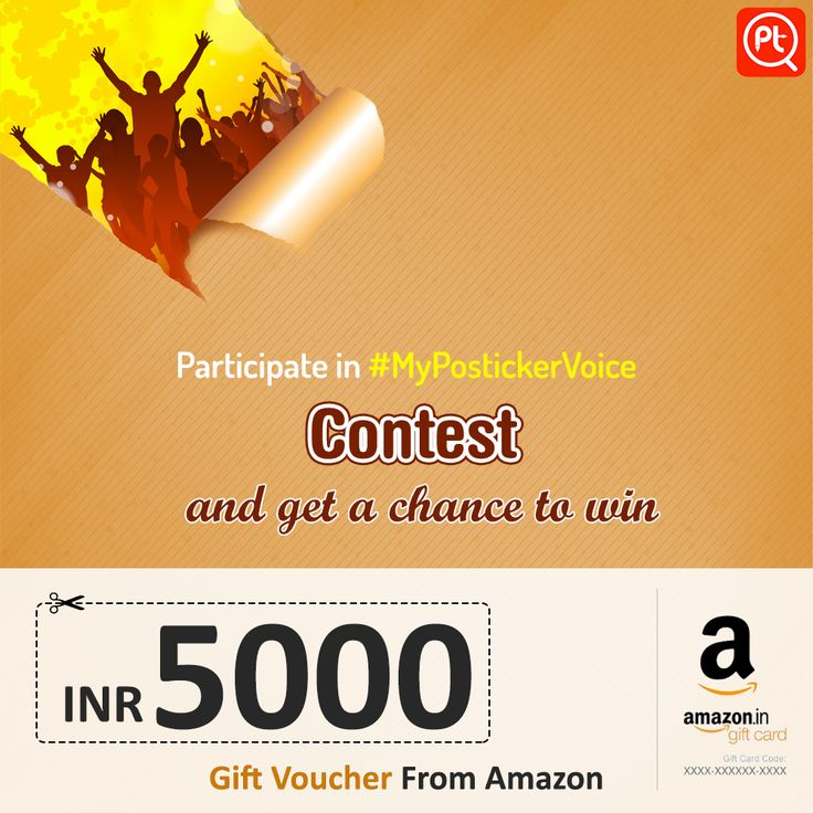 ‪#‎MyPostickerVoice‬ ‪#‎Contest‬ Participate in #MyPostickerVoice contest and get a chance to win INR 5000/- voucher from amazon For more Download Posticker App here: http://bit.ly/1P36Dup