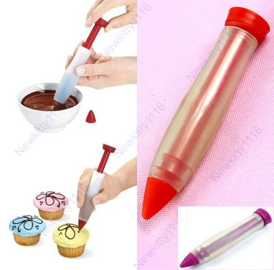 NEW 1pcs Silicone Food Writing PEN Cake Mold Cream CUP Chocolate Decorating PEN | eBay