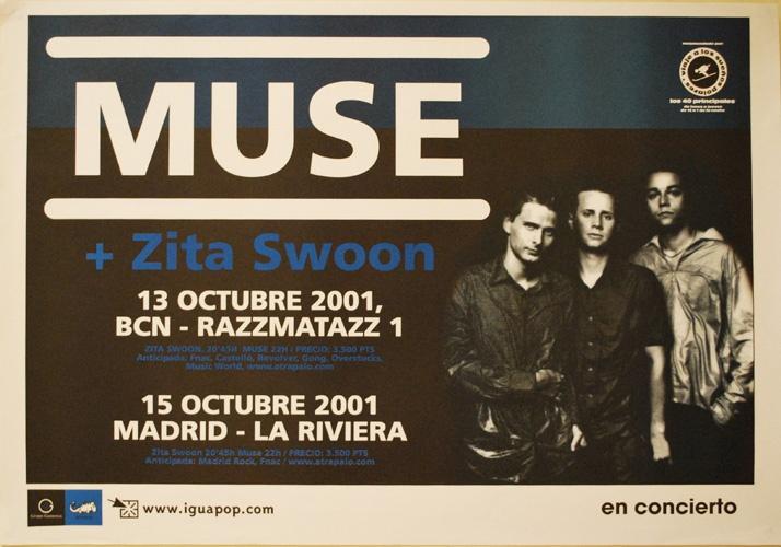 MUSE, 2001 Barcelona y Madrid