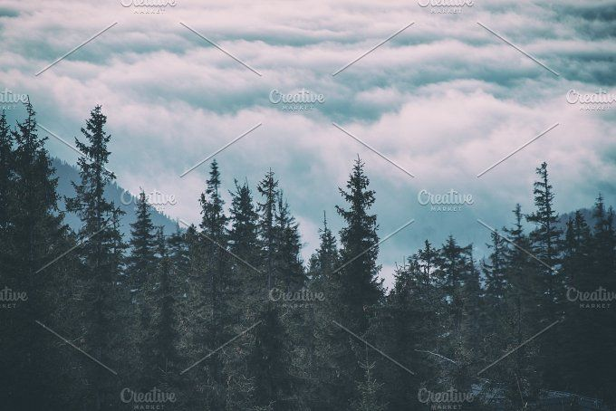 Morning mountain landscape by Nature and travel on @creativemarket