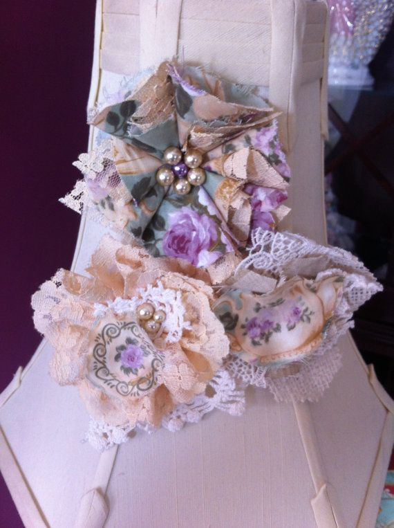 Set of 3/ Shabby Chic Embellishments/ Romantic by DolledandDazzled, $15.75