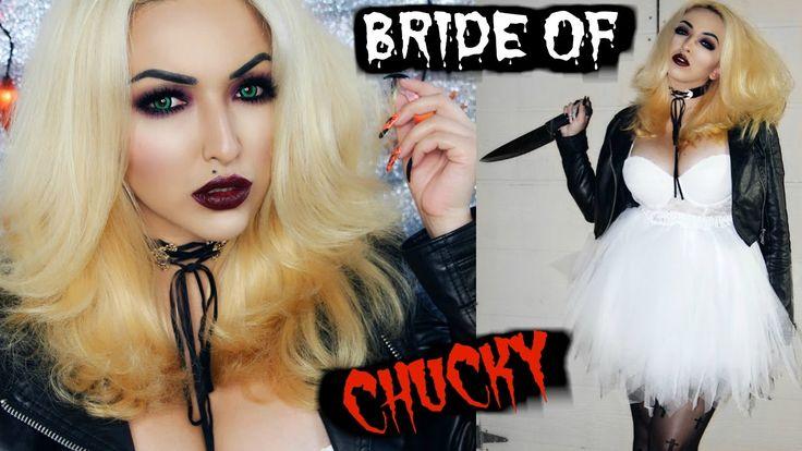 BRIDE OF CHUCKY MAKEUP TUTORIAL + COSTUME