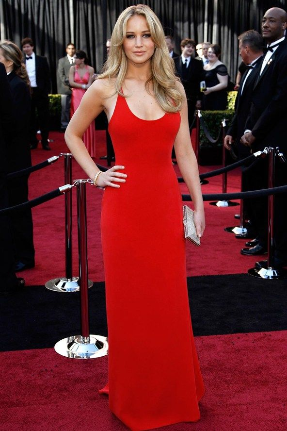 My goal is to be able to pull of such a simple gown so stunningly.: Calvin Klein, Style, Redcarpet, Red Carpet, Dresses, Oscar, Jennifer Lawrence, Jenniferlawrence