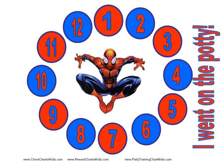spiderman potty training chart
