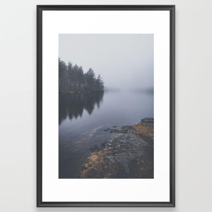 I love the rain Framed Art Print