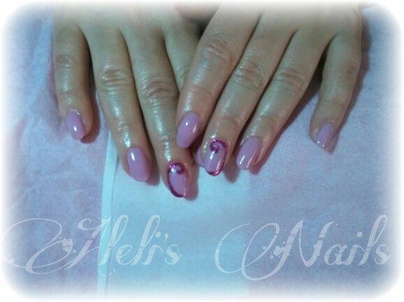 Fresh liliac nails.