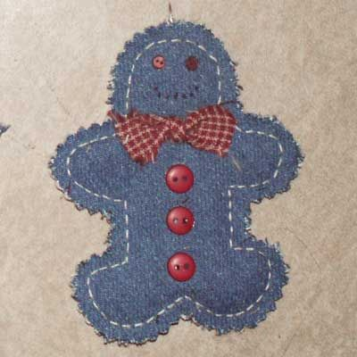 Denim Quilted Christmas Ornaments