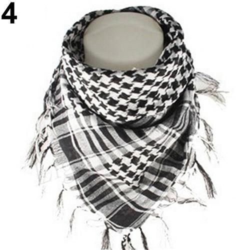 Shemagh Keffiyeh Military Army Tactical Desert Arab Fashion Cotton Scarf RED BLK