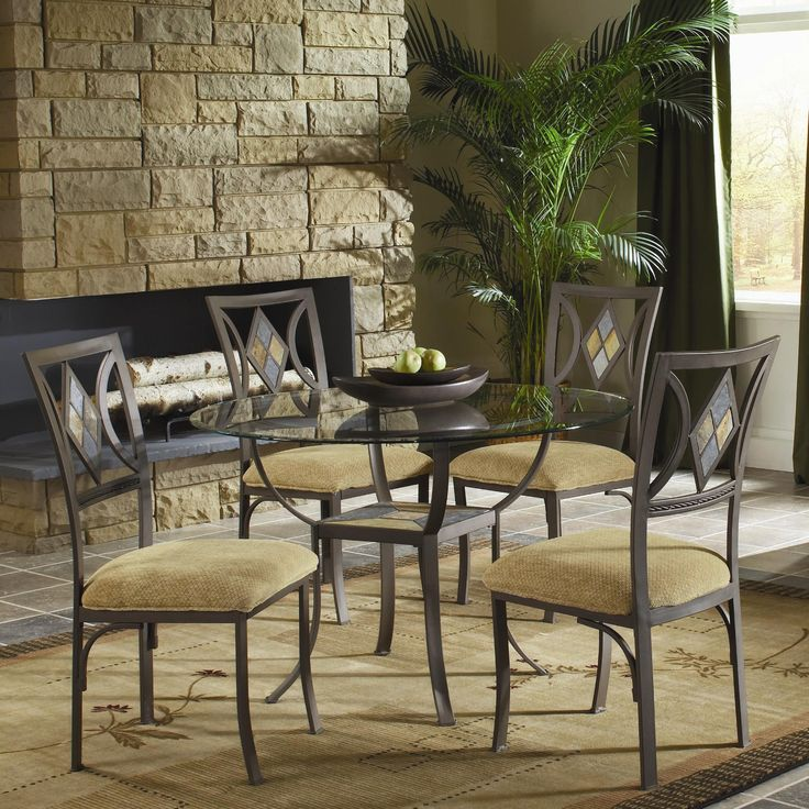 Diamond Tile 5 Piece Dinette Table And 4 Chairs 39900 45 Dia X 30