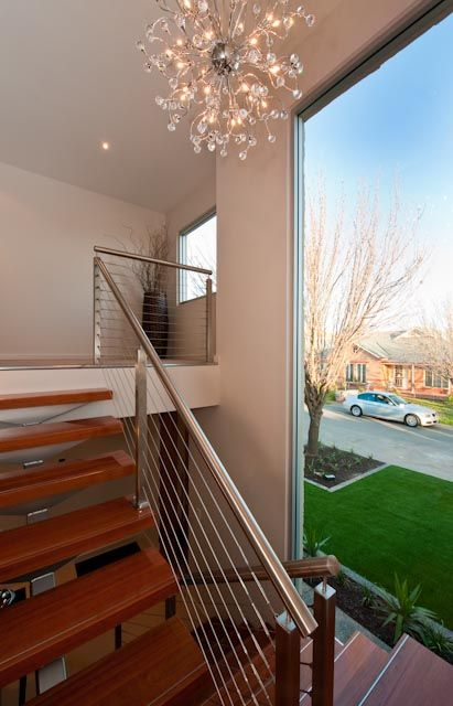 Floor to ceiling feature stair window  Interior Design