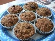 Applesauce Oatmeal Muffins  Got a load of homemade applesauce my mother made from the apples from our apple tree. So I found this healthy recipe for breakfast muffins.