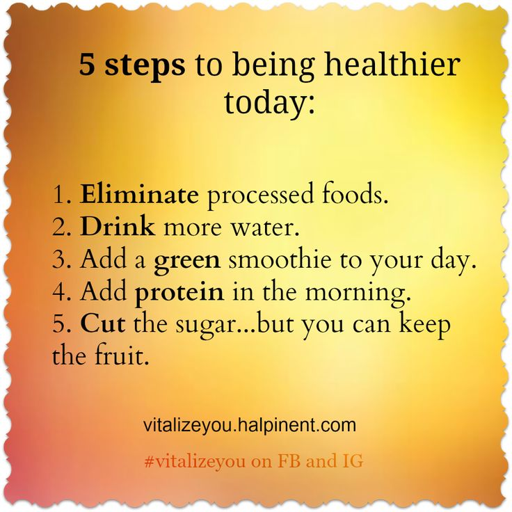 5 Steps to Being Healthier Today!