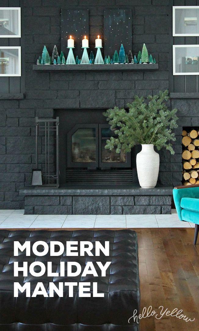 DIY Modern Holiday Mantel #LeonsHelloHoliday