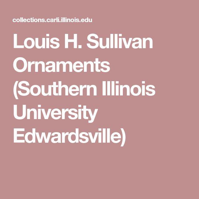 Louis H. Sullivan Ornaments (Southern Illinois University Edwardsville)
