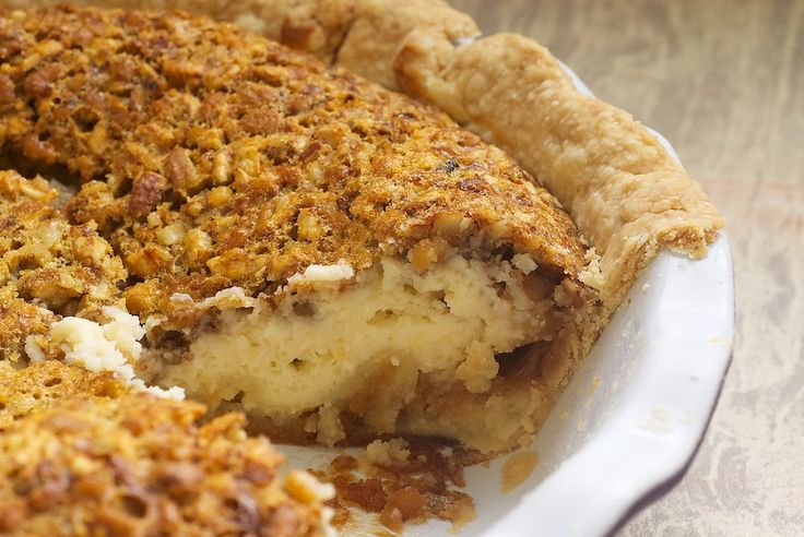 Pecan Cheesecake Pie is a delicious pecan pie-cheesecake hybrid.