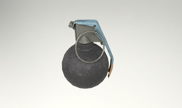3D M67 Grenade Usa Pbr - 3D Model