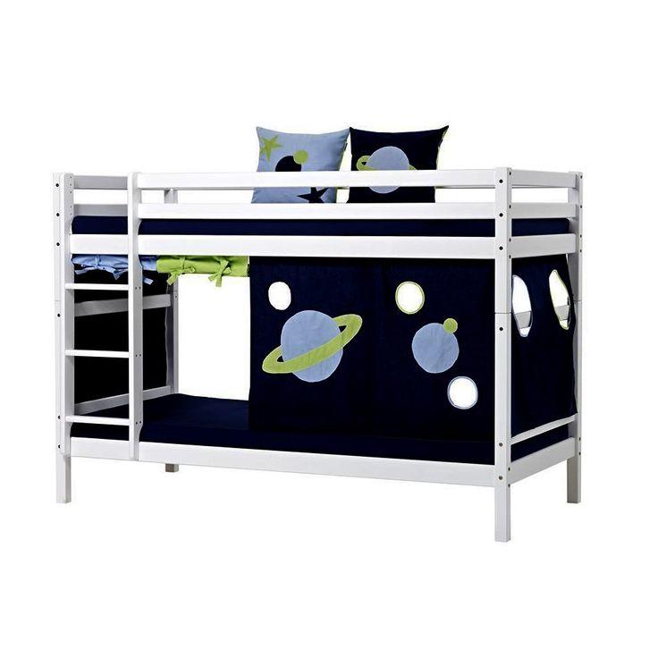 Cool Hoppekids Bett x cm Basic Space Etagenbett mit Vorhang Kiefer wei Jetzt bestellen unter https
