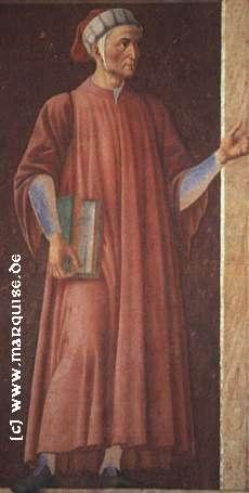 Dante Alighieri by Andrea del Castagno, 1450