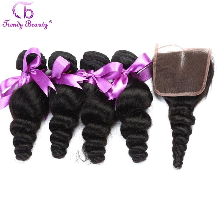 [Trendy Beauty] Malaysian Loose Wave 4Pcs With a C…