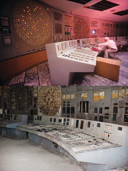 Ukraine - Chernobyl - Before & After; Chernobyl