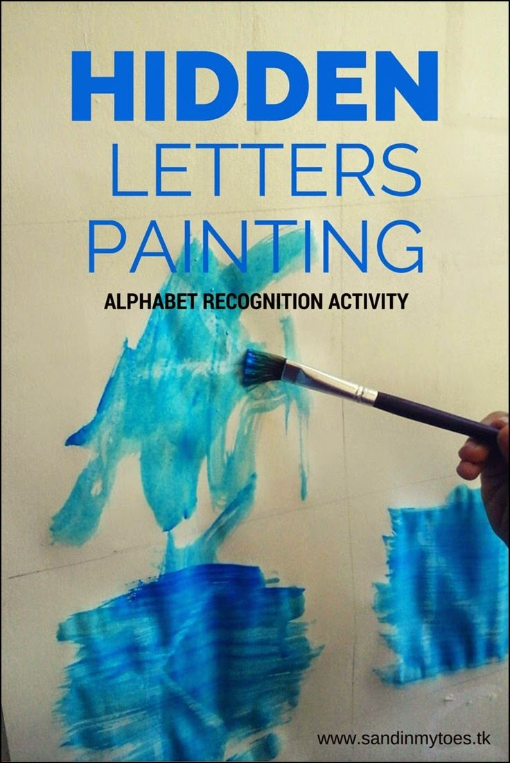 Hidden Letters Painting | An easy painting activity to learn and identify letters - great for toddlers!