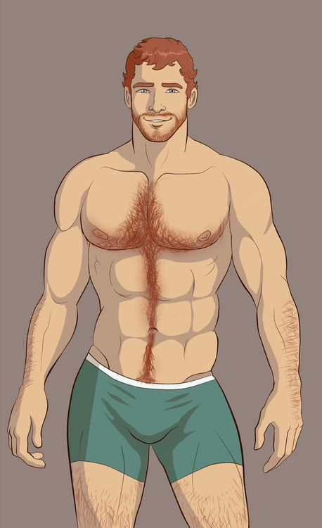 Hairy Red Head Illustration