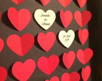 Unique 3D Wedding Guest Book / Signature Frame / Keepsake / Hearts / Memories - Edit Listing - Etsy