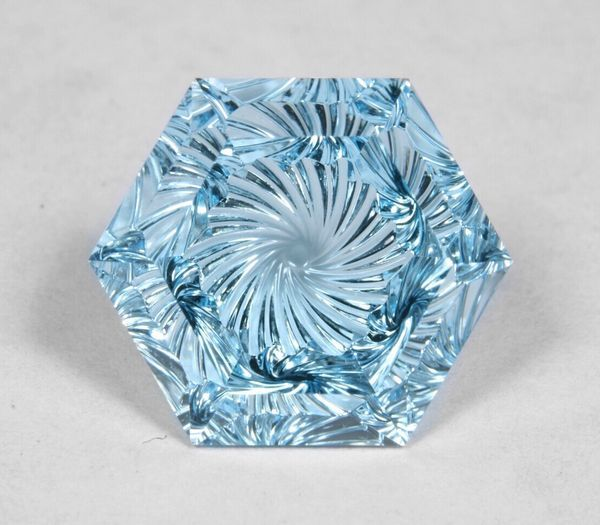 Stare too long and you'll be sucked in by it's beauty!!  15.20 ct. faceted blue …