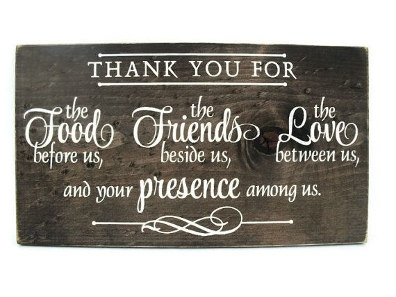 Christian Plaque Rustic Wood Sign Wall Decor   Thank You For the Food  Before Us The Friends Beside Us The Love Between Us   1309. Best 20  Dining room wall art ideas on Pinterest   Dining wall