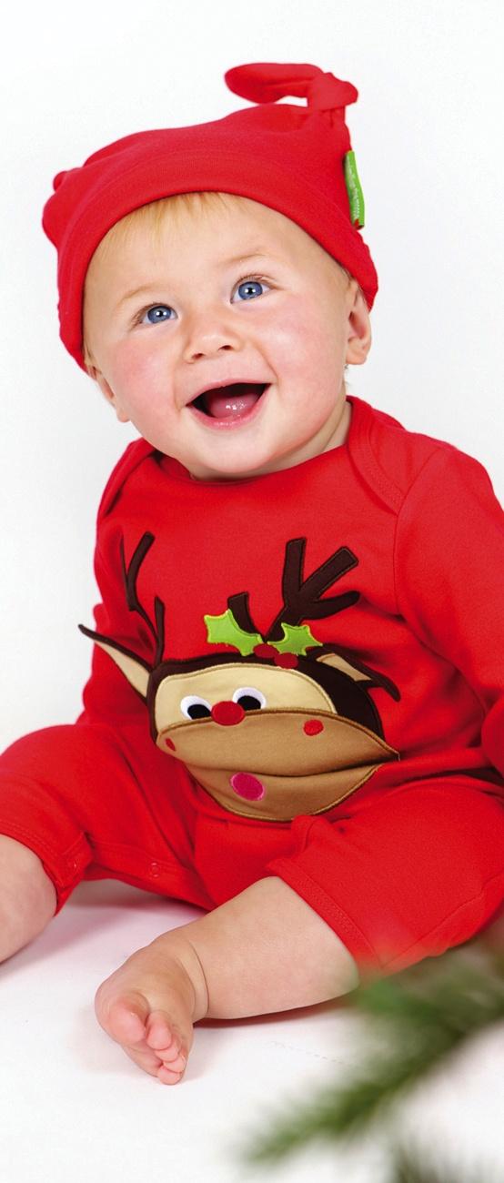 Da leuchten Kinderaugen! Mit unserem niedlichen Elch Weihnachtsstrampler ist Ihr Baby der Mittelpunkt unter dem Weihnachtsbaum.