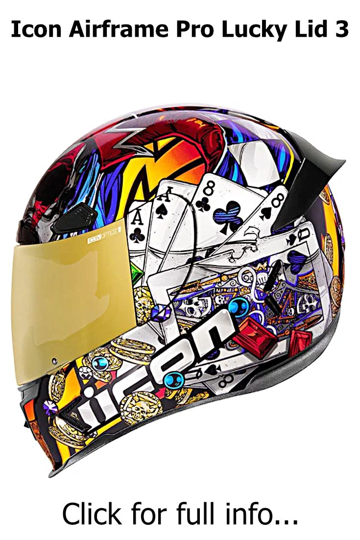 Icon Airframe Pro Lucky Lid 3 Full face motorcycle