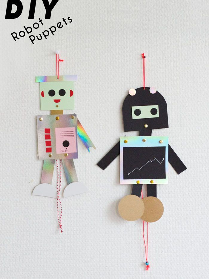 Bloesem kids | Kids craft - diy robot puppet
