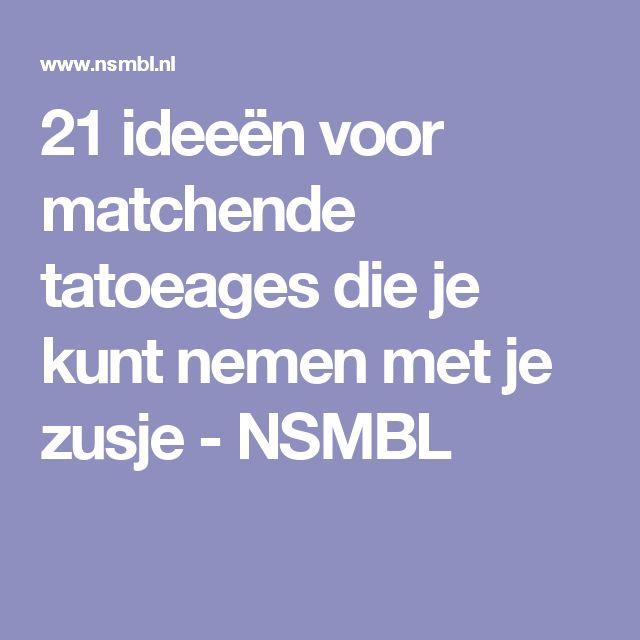 21 ideeën voor matchende tatoeages die je kunt nemen met je zusje - NSMBL