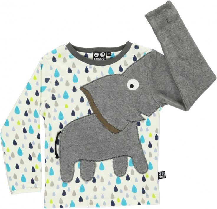 Ubang: olifant shirt lange mouw regendruppel print kind