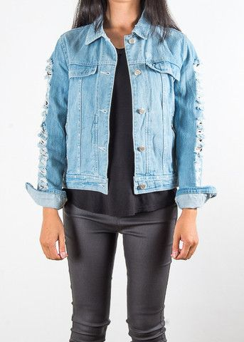 Ripped Denim Jacket | Boutique YANG