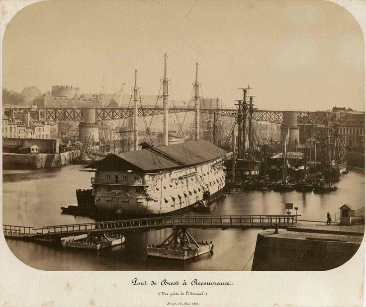 la penfell et l arsenal port militaire de brest c 1865 schiffe bretagne