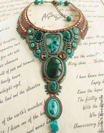 Necklace, handmade beads. Fair Masters - handmade necklace Malahitnitsa (chrysocolla, malachite, turquoise). Handmade.