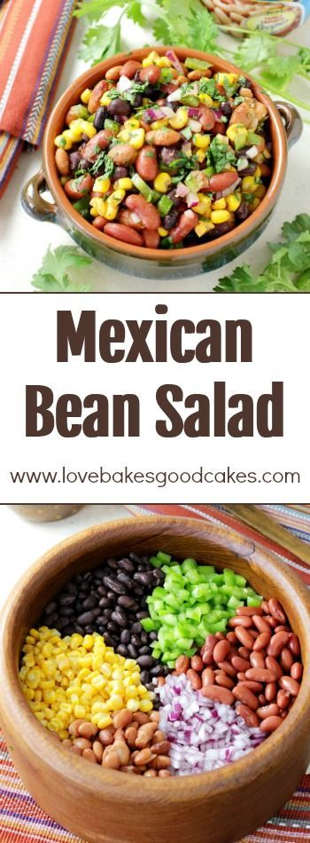 This Mexican Bean Salad is full of protein-rich beans, colorful veggies, and a flavorful Mexican dressing! You'll love how versatile and delicious this dish is! AD  #MyBestWithBushBeans