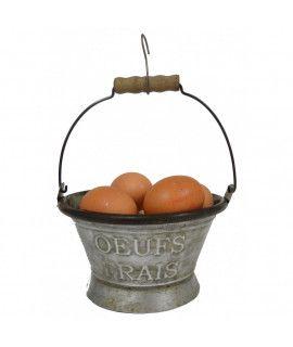 Pojemnik wiaderko na jajka Oeufs Frais