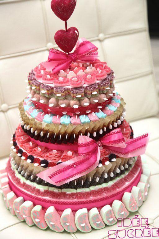 Tarta de chuches - Candy cakes - Gâteau de bonbons: