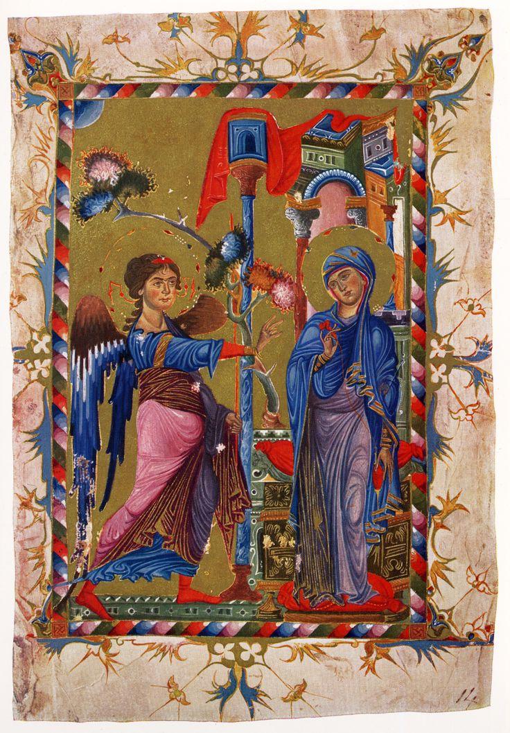 Miniature - Annunciation from 13th century Armenian Gospel