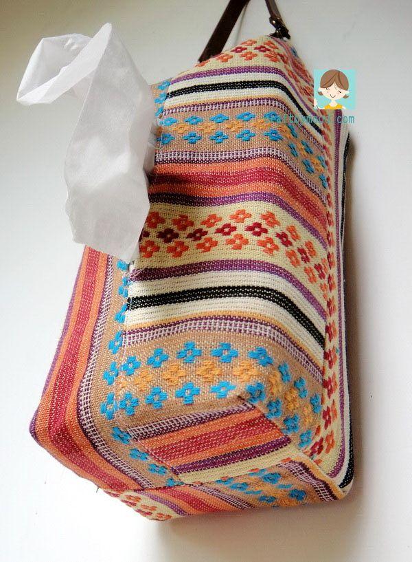 Tutorial Menjahit Tempat Tissue Gantung ( Tissue Bag ) | craftbymood.com