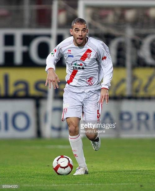 Gianluca Freddi of US Grosseto is shown in action during the Serie B match between Reggina and Grosseto at Stadio Oreste Granillo on January 5 2010...